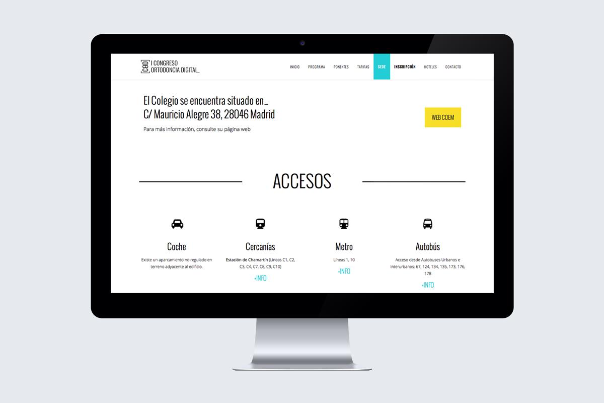 Congreso de Ortodoncia Digital web accesos